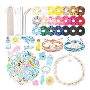 70pcs VSCO Girl Pack Set Scrunchie Sticker Shell
